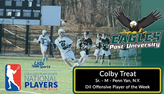 Colby Treat Named USILA/Lids Teams Sports DII Player of the